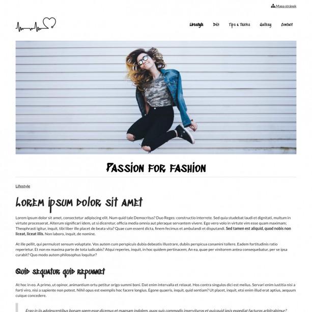 Blog o módě a trendech si můžete vytvořit sama snadno a rychle. WebSnadno je intuitivním systémem, ve kterém se vám bude dobře pracovat.