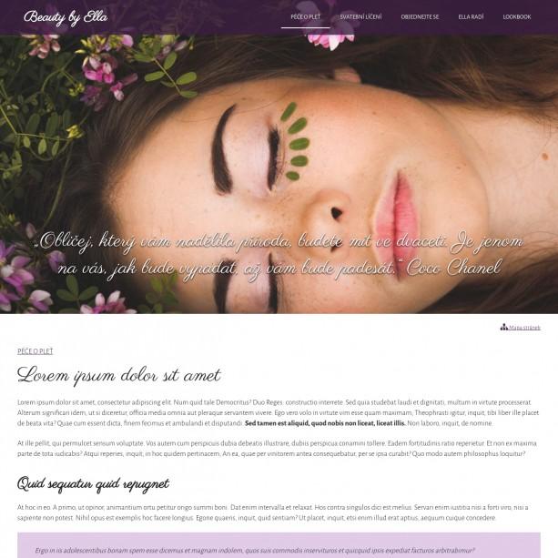 Nabídku vašich služeb je dobré sdílet s potenciálními zákaznicemi na internetu. Webové stránky vašeho kosmetického salónu mohou přivést nové zákaznice. S WebSnadno si je vytvoříte snadno sama.