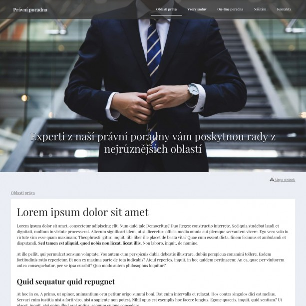 Internetové stránky pro vaši právní kancelář si hravě vykouzlíte sami. S našim intuitivním systémem pro tvorbu webových stránek WebSnadno to půjde skoro samo.