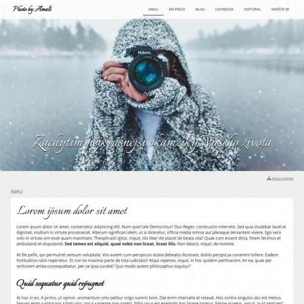 Fotograf, který svou práci neukazuje v on-line světě, jako by nefotil ;) Vytvořit si vlastní webové stránky a ukázat světu svou práci bude s WebSnadno zábava.